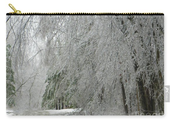 Icy Street Trees Carry-all Pouch