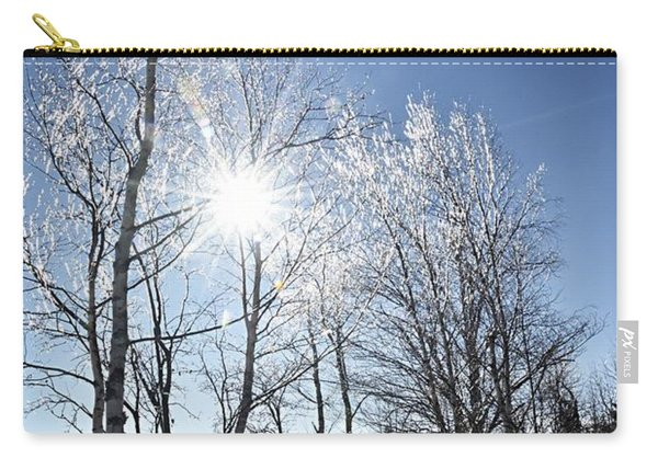 Icy Sunburst Carry-all Pouch