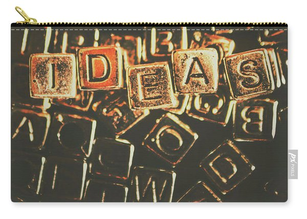Ideas Letterpress Typography Carry-all Pouch