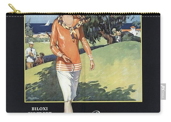 Illinois Central - Gulf Coast - Mississippi - Retro Travel Poster - Vintage Poster 2  Carry-all Pouch