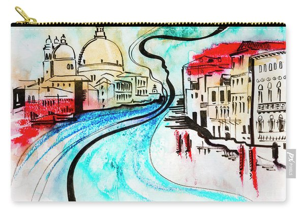 illustration of travel, Venice Carry-all Pouch