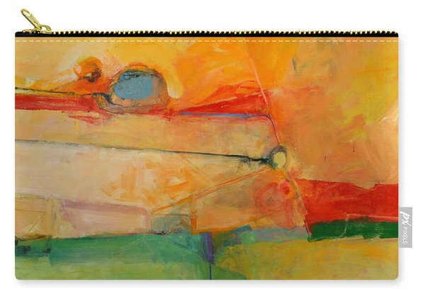 Carry-all Pouch featuring the painting I'm In Corn  by Cliff Spohn