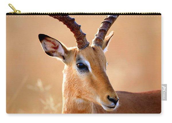 Impala Male Portrait Carry-all Pouch