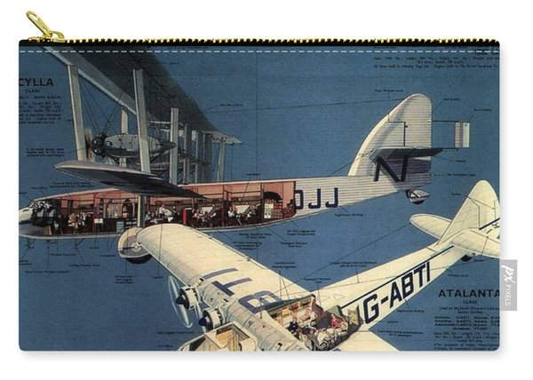 Imperial Airways - The Greatest Air Service In The World - Retro Travel Poster - Vintage Poster Carry-all Pouch