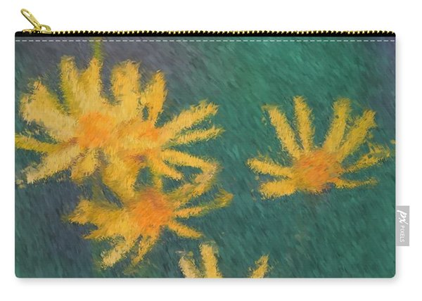 Impressionist Yellow Wildflowers Carry-all Pouch