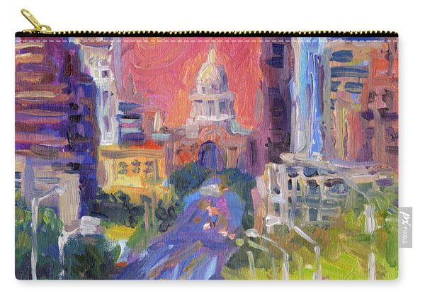 Impressionistic Downtown Austin City Painting Carry-all Pouch