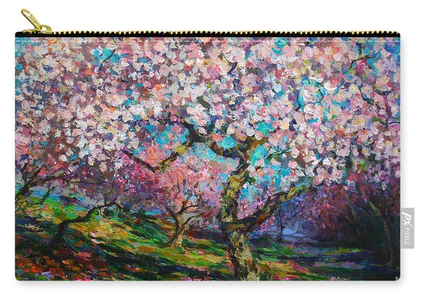 Impressionistic Spring Blossoms Trees Landscape Painting Svetlana Novikova Carry-all Pouch