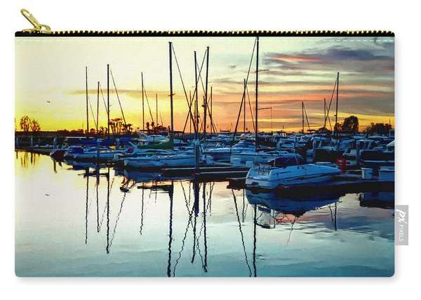 Impressions Of A San Diego Marina Carry-all Pouch