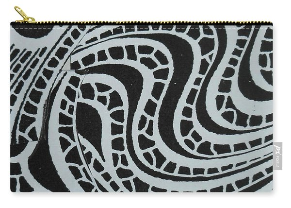 In Black And White Carry-all Pouch