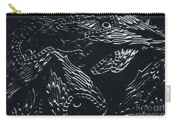 In Contrasts Of Light And Darkness Carry-all Pouch