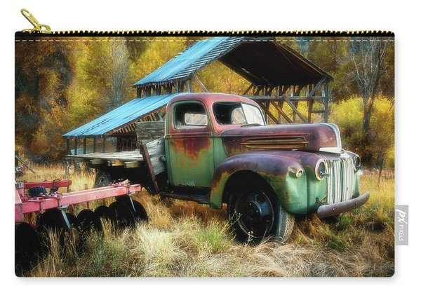 In The Autumn Of Life - 1945 Ford Flatbed Truck Carry-all Pouch