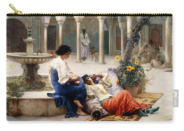 In The Courtyard Of The Harem Carry-all Pouch