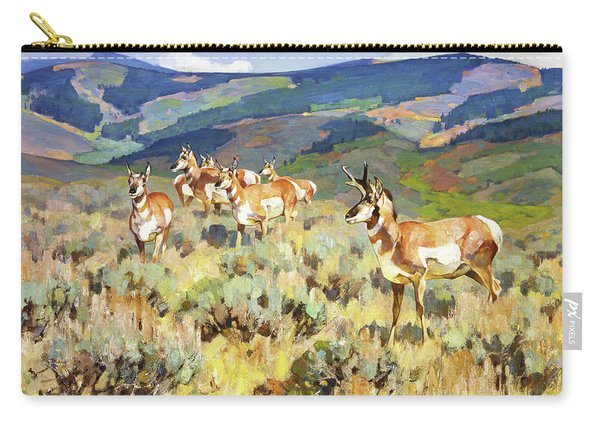 In The Foothills - Antelope Carry-all Pouch