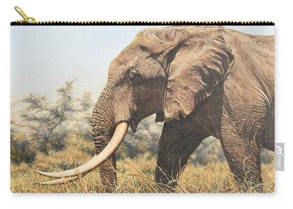 Carry-all Pouch featuring the painting In The Footsteps Of Elders by Alan M Hunt