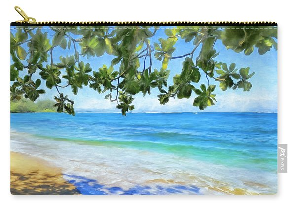 In The Shade At Hanalei Bay Carry-all Pouch