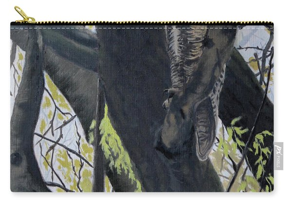 In The Shadow-ojibway Great Horn Owl Carry-all Pouch