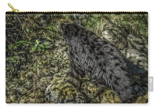 In The Shadows Black Bear Carry-all Pouch