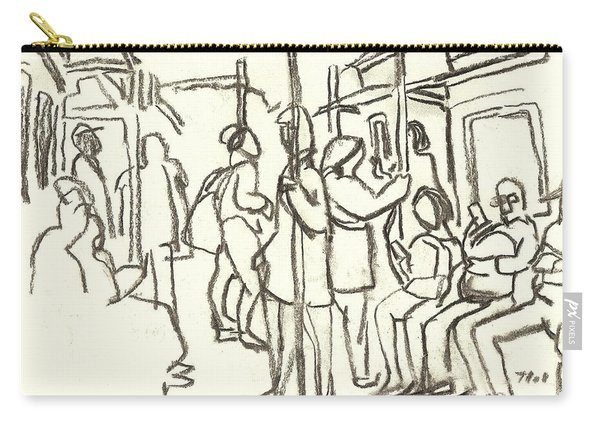 In The Subway, Nyc Carry-all Pouch