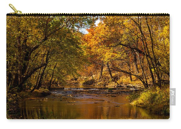 Indian Creek In Fall Color Carry-all Pouch