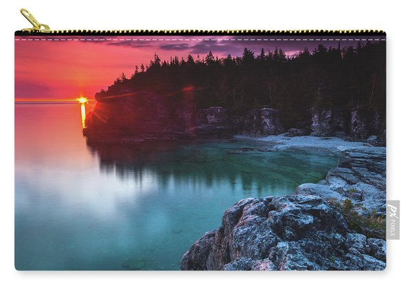 Indian Head Cove Sunrise Flare Carry-all Pouch