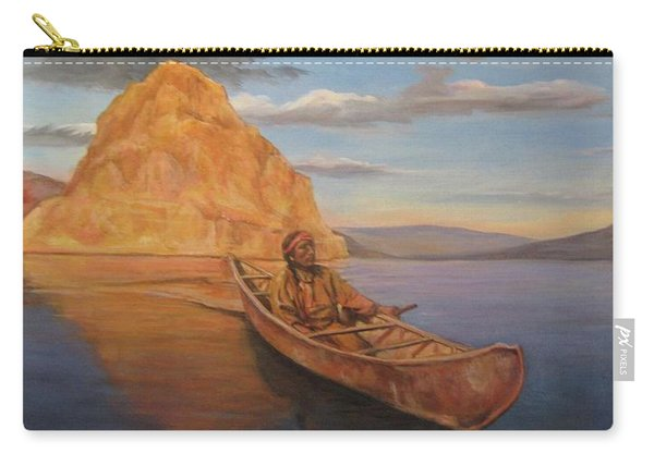 Indian On Lake Pyramid Carry-all Pouch