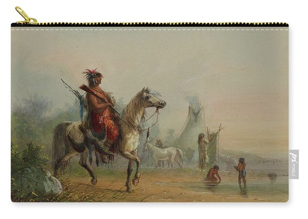 Indian Returning To Camp With Game Carry-all Pouch