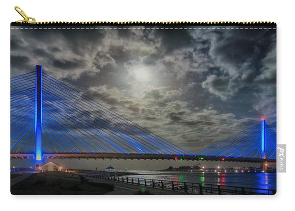 Indian River Bridge Moonlight Panorama Carry-all Pouch