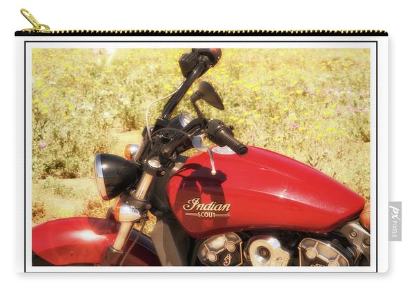 Carry-all Pouch featuring the photograph Indian Scot Motor Cycle by Michael Hope