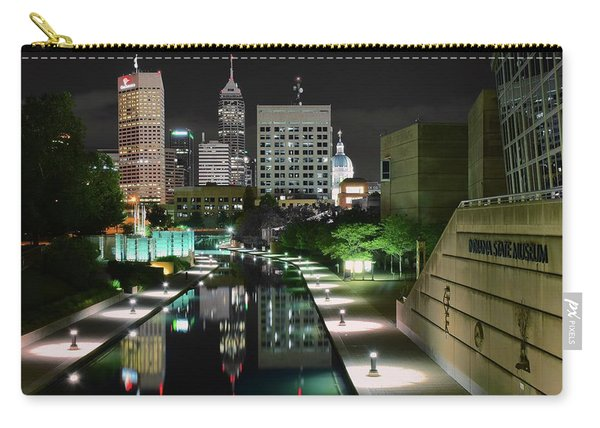 Indianapolis Canal Night View Carry-all Pouch