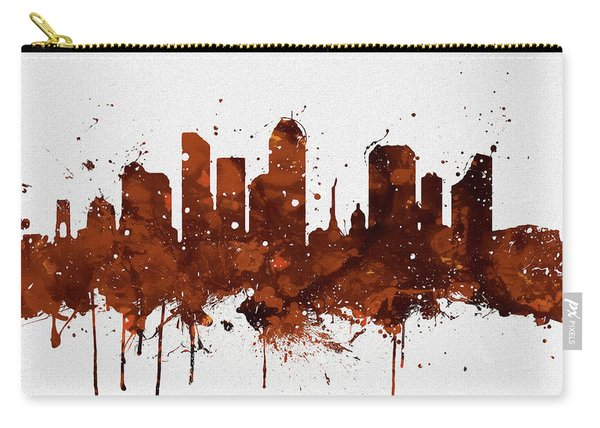 Indianapolis Colorful Skyline Carry-all Pouch