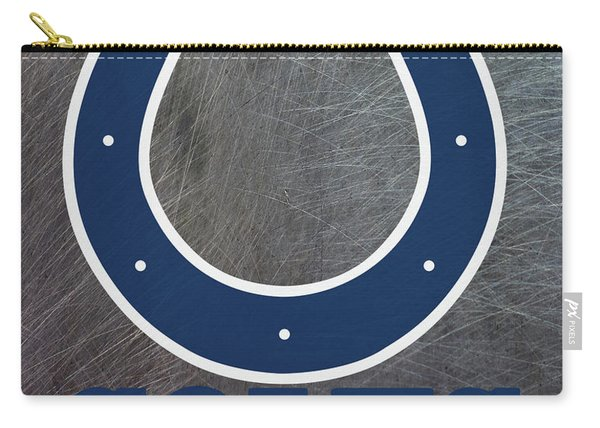 Indianapolis Colts On An Abraded Steel Texture Carry-all Pouch