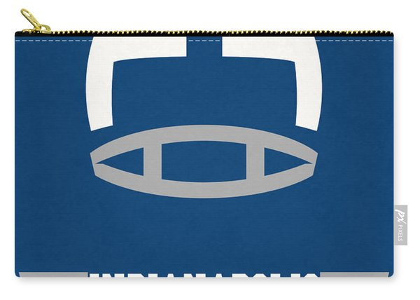 Indianapolis Colts Vintage Nfl Art Carry-all Pouch