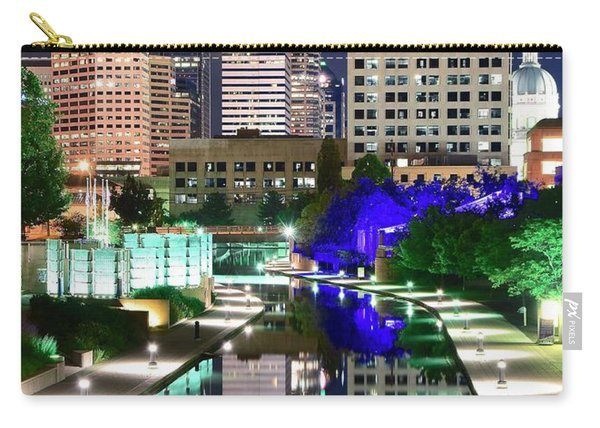 Indianapolis Nights On The Canal Carry-all Pouch