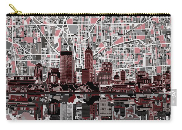 Indianapolis Skyline Abstract 1 Carry-all Pouch