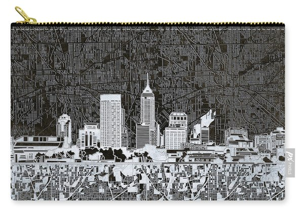 Indianapolis Skyline Abstract 10 Carry-all Pouch