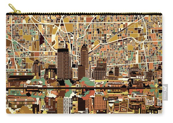 Indianapolis Skyline Abstract 2 Carry-all Pouch