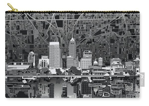 Indianapolis Skyline Abstract 5 Carry-all Pouch
