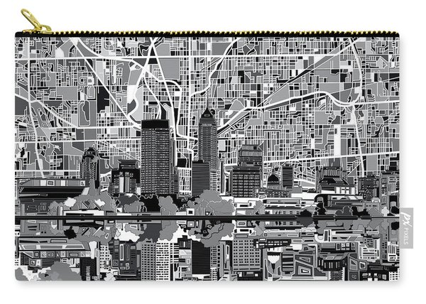 Indianapolis Skyline Abstract 6 Carry-all Pouch