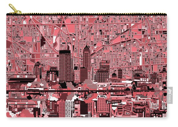 Indianapolis Skyline Abstract 8 Carry-all Pouch