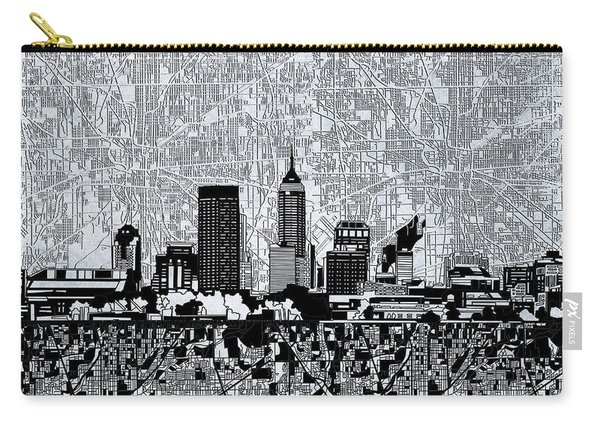 Indianapolis Skyline Abstract 9 Carry-all Pouch