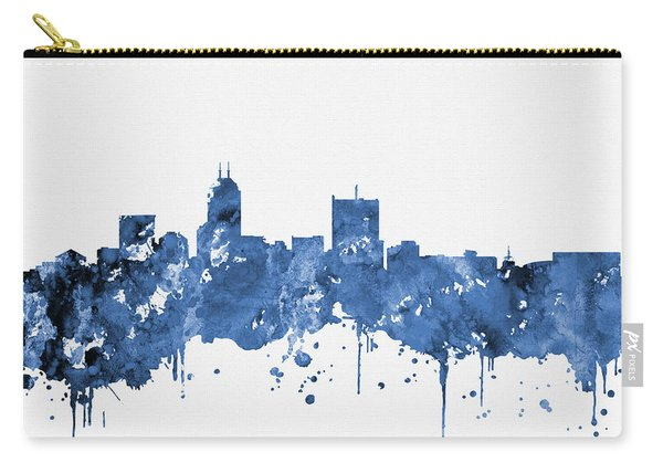 Indianapolis Skyline-blue Carry-all Pouch