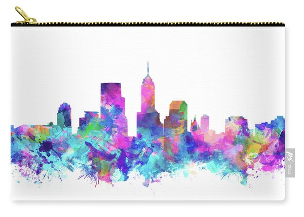 Indianapolis Skyline Watercolor 4 Carry-all Pouch