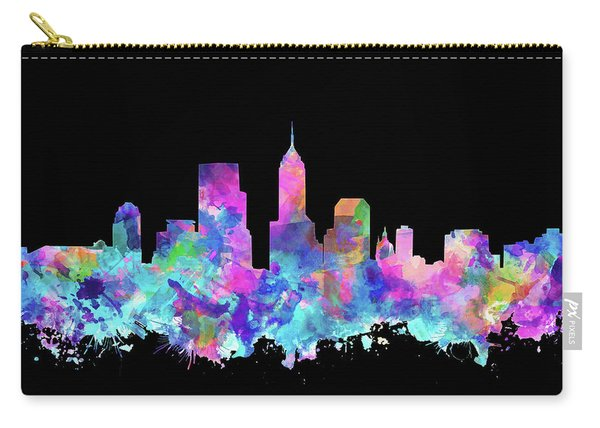 Indianapolis Skyline Watercolor 6 Carry-all Pouch