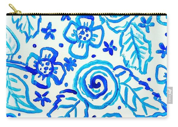 Indigo Blooms Carry-all Pouch