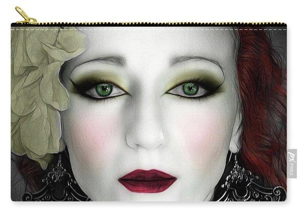 Indigo Heather Portrait  Carry-all Pouch