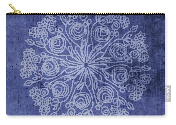 Indigo Mandala 2- Art By Linda Woods Carry-all Pouch