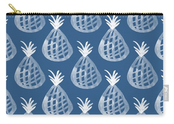 Indigo Pineapple Party Carry-all Pouch