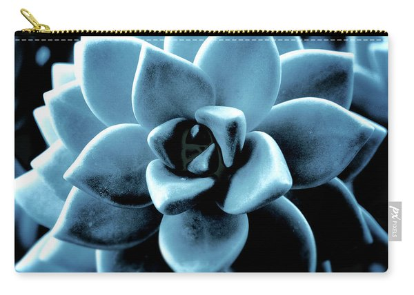 Indigo Succulent- Art By Linda Woods Carry-all Pouch