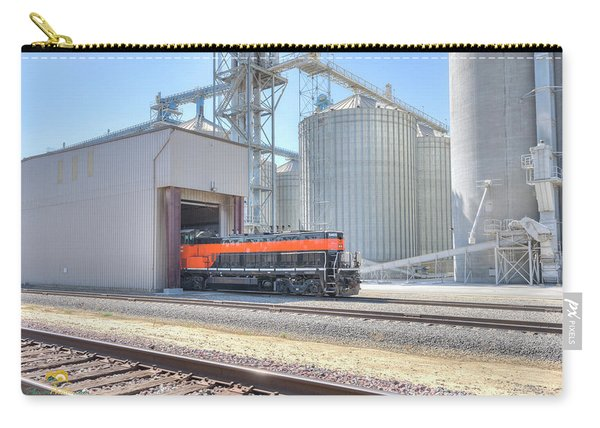 Carry-all Pouch featuring the photograph Industrial Switcher 5405 by Jim Thompson