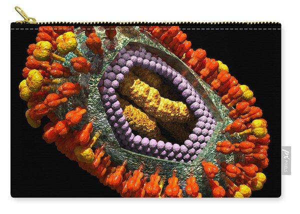 Influenza Virus Cutaway 5 Carry-all Pouch